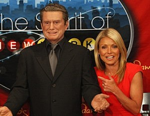 Wax Regis Philbin and plastic Kelly Ripa