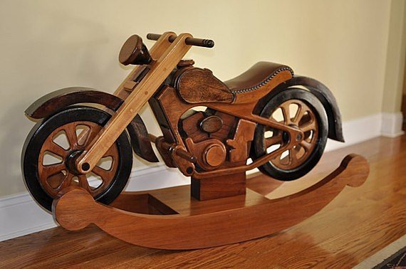 hardwood rocking cycle