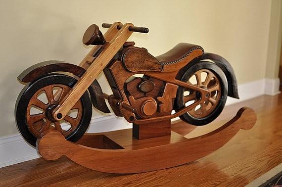 hardwood rocking cycle