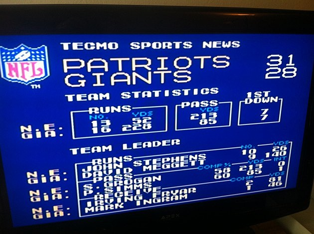 Patroits over Giants
