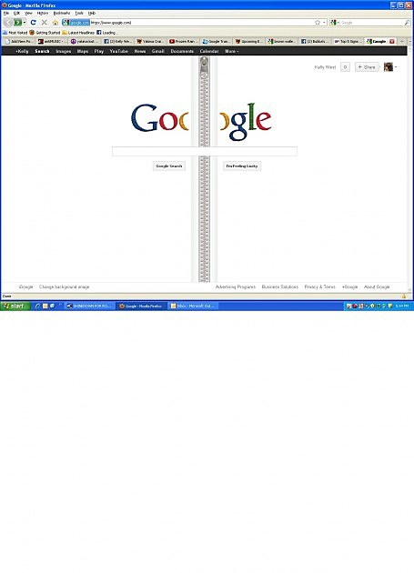 GOOGLES FRONT PAGE