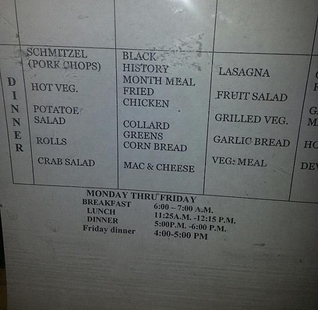 black history month menu