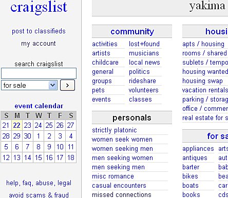 Yakima Craigslist Missed Connections, A Very Stupid Poem